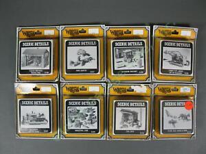 8 Woodland Scenics HO Tucker Brothers Machine Shop D240 Set Detail Kit LOT 87th