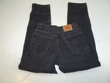 Levis 550 Black Jeans Men W32 x L34 Pants Relaxed Fit Red Tab Denim