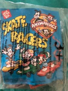 1996 Jack In the Box Kids Meal Animaniacs Skate Racers Toy RARE MIP NIP