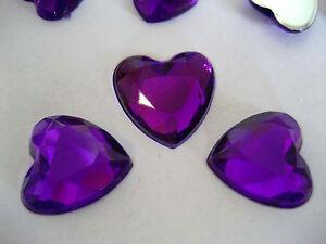Purple Wedding/Party Table Gems/Confetti/Decoration Crystal/Diamond Heart shaped