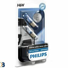 2x Philips H6W White Vision 12V 6W BAX9s Ampoules intérieures 12036WHVB2