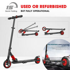 USED Folding Electric Scooter 250W Aluminum Portable Teens City E-Scooter - RED