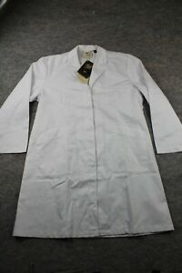 Dr. James Lab Coat Size 12 Women's Tailored Professional Long NWT Defect