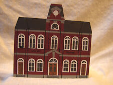 Vintage Victorian Wooden Building 2 Story Court House