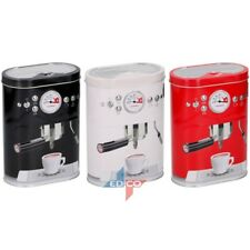 RETRO COFFEE TIN KITCHEN STORAGE CANISTERS JAR CANISTER COFFEE MACHINE DESIGN