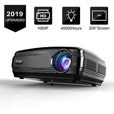 FUJSU 3200 Lumens HD LED Projector 1080P HDMI USB VGA Bundle NEW