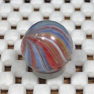 "Colorful Josephs' Coat Onionskin 19/32"" * Antique German Handmade Marbles"