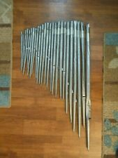 25 Vintage Pipe Organ Pipes 31 Inches To 9 Inches