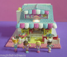 Polly Pocket Mini ♥ Tolle Pizzeria ♥ mit *Licht* + 4 Pollys ♥ Complete ♥ 1993 ♥
