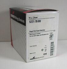 Cooper 5221-7B-BU 15A 120V Single Pole Copal Switch Brown Box of 10