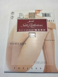 Hanes Silk Reflections Beyond Bare Toeless Control Top Pantyhose AB Beyond Bisqu