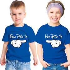Disney inspired Brother and sister t-shirts set He Did it She did it