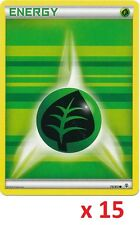 Pokemon TCG XY Generations 15 x Grass Basic Energy Cards