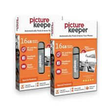 Picture Keeper 16GB Automatic USB Photo Backup Device for Computers (2 Pack)