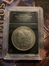 1879 Morgan Silver Dollar Bradford Exchange Authenticated Vg Collector's Edition