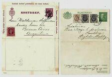 K101 Sweden stationery Kortbref argentina 1901 ps  uprated cancels