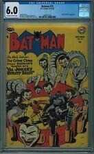 BATMAN #73 CGC 6.0 CLASSIC JOKER COVER! OW-W PGS 1952