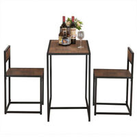 Elm Wood Simple Breakfast Table And Chair Three-Piece Indoor Outdoor Coffee Desk