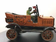 Vintage 1930 Marx Amos and Andy Fresh Air Taxi Wind-Up Toy