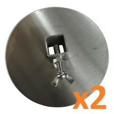 Souvlaki Stainless Steel Gyros Disc: 20mm round (2 disc)