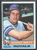 George Brett 1976 Topps baseball card #19 Kansas City Royals HoF