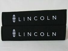 Embroidery Lincoln Seat Belt Cover Shoulder Pads Pair