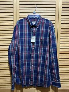 """NWT Brooks Brothers button front size M """"Red Fleece"""""""