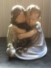 Royal Copenhagen 'Two Children with Puppy' Porcelain Figurine- figure