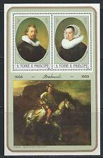 S.Tome & Principe - Beautiful Rembrandt Paintings MNH Souvenir Sheet -79