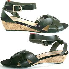 Arizona Sandalette 39 Lederimitat RiemchenSandale Keilabsatz Schwarz Modern NEU