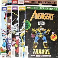 Marvel Comics True Believers Avengers Set of 10 books.