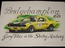 MUSTANG SHELBY 1968 JERRY TITUS  tirage numéroté et signé