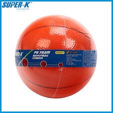 "SUPER-K New 5"" Orange Children's Safe Foam Basketball Kids Toy Play Game Ball"