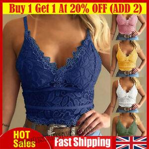 Women's Lace Bralette Bralet Bra Vest Bustier Crop Top Ladies Camisole Cami Tank