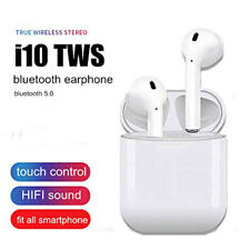I10 Touchless Control Wireless 5.0 Stereo Dual Ear Calling Earbuds, IOS, Android