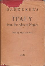BAEDEKER'S ITALY FROM THE ALPS TO NAPLES ~ RARE DUST JACKET - 1928