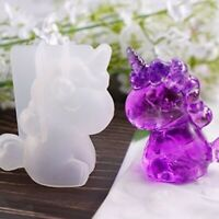 Trumpet Unicorn Silicone Resin Mold For Diy Jewelry Pendant Mould Craft Handmade