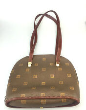 Vintage Texier Handbag Brown Leather Brown Shoulderbag Purse Designer