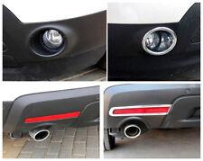 4* ABS Chrome Front+ Rear Tail Fog Light Lamp Cover for Ford Explorer 2011-2014