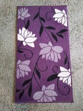 Purple Plum Floral Rug - 60 x 110 - excellent condition