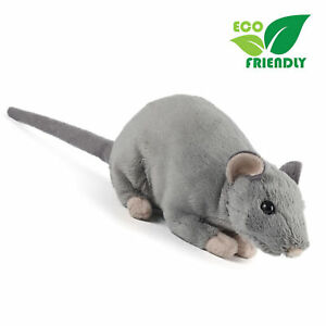 Living Nature Realistic Rat with Squeak Stuffed Plush Toy 30cm **FREE DELIVERY**