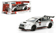 2016 SUBARU WRX STI WIDEBODY SILVER #16 JDM TUNERS 1/24 MODEL CAR BY JADA 99092