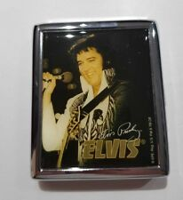 Elvis Presley Colour - Stainless Steel Cigarette Case With Hologrammed Gift Box