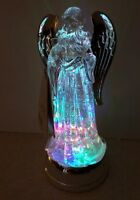 RARE Christmas Angel Water globe SWIRLING Light Lite LED COLOR CHANGING 11""