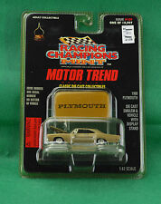 Racing Champions Mint Motor Trend 1968 Plymouth #109 Gold Car Emblem Stand 1997