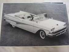 1958 FORD  CONVERTIBLE  BIG  11 X 17  PHOTO   PICTURE