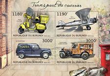 Postal Transport Couriers scooter cars plane m/s Burundi Sc.1263 #BUR12723a