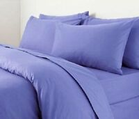 3 Pc Plain dyed Turquoise Blue Duvet Quilt Cover Bedding Set Single Double King