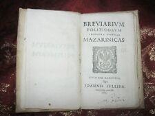Seicentina - Breviarium Politicorum Secundum Rubricas Mazarinicas 1684