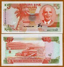 Malawi, 5 Kwacha, 1994, P-24 (24b), UNC